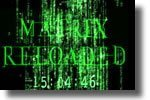 The Matrix Reload Screensaver Clock